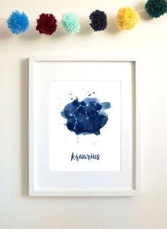 Aquarius constellation  Aquarius art  Aquarius by AmelieDuboisArt