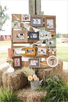 25 idee per decorare il vostro matrimonio con le fotografie