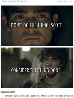 """This interaction between Derek and Scott: 21 Jokes Only """"Teen Wolf"""" Fans Will Find Funny Teen Wolf Dylan, Teen Wolf Stiles, Teen Wolf Cast, Dylan O'brien, Teen Wolf Memes, Teen Wolf Funny, Teen Wolf Songs, Teen Wolf Tumblr, Only Teen"""