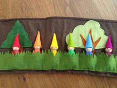 Woodland Roll Up and Play Mat with Rainbow door Gnomewerkspdx More