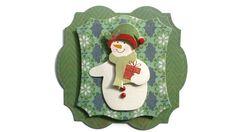Winter Snowman Christmas Scrapbook Embellishment by itsmemanon, $2.00