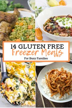 There's not much better in life than Gluten Free Meals, except for Gluten Free FREEZER meals that ar Freezable Meals, Make Ahead Freezer Meals, Crock Pot Freezer, Freezer Cooking, Crockpot Meals, Cooking Tips, Gluten Free Meal Plan, Gluten Free Recipes For Dinner, Gluten Free Recipes Crock Pot