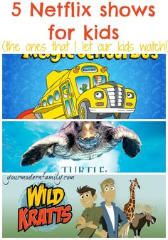 5 Netflix shows for kids  (educational!)