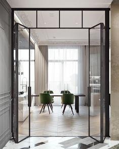 33 Ideas For Apartment Door Design Apartment Entryway, Indoor Glass Doors, House Design, Luxury Home Decor, Modern Room, Apartment Design, House Interior, Cool Apartments, Apartment Interior