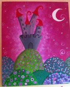Un castillo de princesas para niñas Www.Miscuadritosdecolores.Blogspot.Com