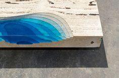 Lagoon Tables by Alexandre Chapelin