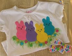 Peeps Shirts - gotta make these for the grands for Easter!
