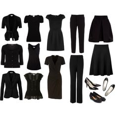 Capsule Wardrobe - All Black by woxy on Polyvore featuring mode, Dorothy Perkins, A|Wear, Zalando, Witchery, Burberry, Marni, Ralph Lauren Collection, L.K.Bennett and Carven