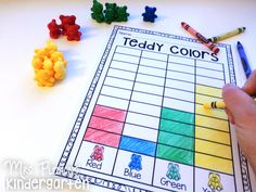 Printables for sorting manipulatives and graphing/analyzing data