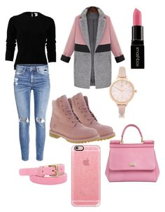 """""""casual"""" by rabiahk on Polyvore featuring Oscar de la Renta, H&M, Timberland, River Island, Smashbox, Dolce&Gabbana and Casetify"""