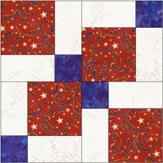 disappearing 9 patch rotated block