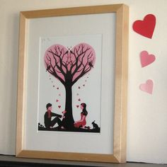 'tree of love' limited edition print by vickysworld | notonthehighstreet.com