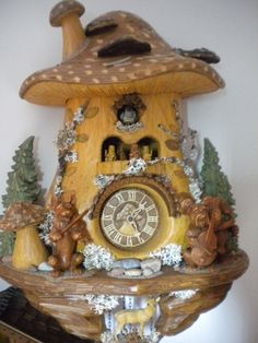 Clocks – Decor : Cuckoo Clock- Black Forest Germany -Read More – Unusual Clocks, Cool Clocks, Coo Coo Clock, Black Forest Germany, Clock Shop, Antique Clocks, Vintage Clocks, Clock Decor, Grandfather Clock
