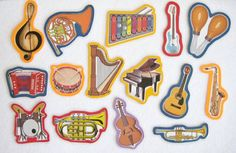Musical Instruments Felt Board Flannel Board Set by NodinsNest, $14.00