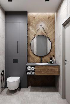 Diy Bathroom Decor, Small Bathroom, Bathroom Ideas, Bathrooms, Bathroom Design Luxury, Round Mirrors, Ceiling Design, Hygge, Baths