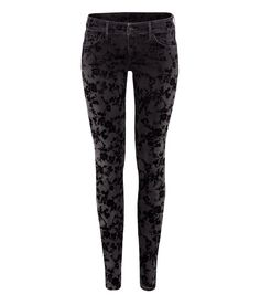 H&m Super Skinny Low Jeans in Black (denim)