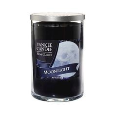 Yankee Candle Home Classic Moonlight 2Wick 22oz ($28) ❤ liked on Polyvore featuring home, home decor, candles & candleholders, black, fragrance candles, wick candles, scented votives, scented candles and scented votive candles