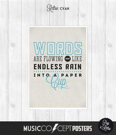 The Beatles - Across The Universe - Music Concept POSTER -  Lyrics Poster Print