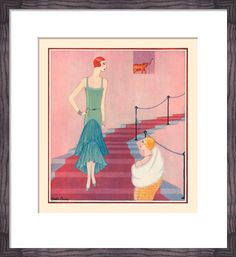 A Gown for Winter Festivities Art Print by Gordon Conway at King & McGaw