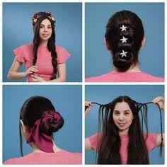 Hair hacks to feel like a queen 5 Minute Hairstyles, Pretty Hairstyles, Easy Hairstyles, Hairstyles Videos, Hair Up Styles, Girl Tips, Braids For Long Hair, Hair Videos, Queen