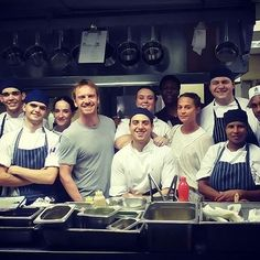 """Michael and Alicia Vikander with the staff of """"Terroir"""" restaurant in South Africa.  #MichaelFassbender #Fassy #Fassbender #AliciaVikander"""