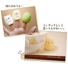 Sumikkogurashi polar bear figurine finger puppet from Japan