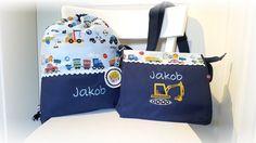 Kindergartentaschen - KOMBI Kindergartentasche & Turnbeutel Bagge... - ein Designerstück von Tante-Ninna bei DaWanda