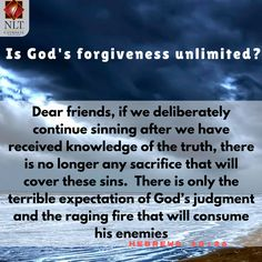 Sin. Grace. Forgiveness. How much sin does God allow and how much grace and forgiveness does He pour out? A verse that you definitely want to take seriously. Keep your Bible close to you and keep sin away