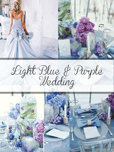Blue and Purple Wedding Ideas . 30 New Blue and Purple Wedding Ideas Inspiration . Gorgeous Sigh Purple and Blue and Silver Wedding Palette Lavender Wedding Colors, Light Purple Wedding, Spring Wedding Colors, Lilac Wedding, Purple Wedding Flowers, Wedding Colours, Lavender Blue, Bling Wedding, Wedding Theme Purple
