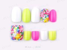 neon, summer, flower, pink