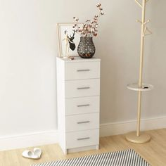 Pine Bedroom Furniture, Furniture Making, Home Furniture, 5 Drawer Chest, Chest Of Drawers, White Sideboard Buffet, Commode Design, Bedroom Chest, Cleaning Walls