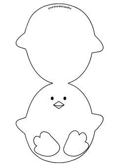 Easter - Ticket in the shape of a chick Easter clipart ideas: Source by - Easter Templates, Bunny Templates, Easter Bunny Template, Applique Templates, Applique Patterns, Easter Activities, Easter Crafts For Kids, Diy Easter Cards, Scrapbooking