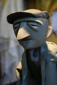 An (different) old man by Little Angel Theatre, via Flickr    Or do we want to go for simplicity with the faces? Going for clean lines does have a childs-book quality when things are exaggerated... like the nose. I want to avoid this. I don't want Kitsch