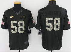 5f31229cb Denver Broncos 58# Miller black Salute TO Service Jersey Cheap Nba Jerseys,  Nhl Jerseys