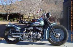 Photo of 1947 UL Harley Flathead Oldschool Bobber bike by Flat Head Jedd.