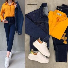 💖💖😍😍 Size Book fast Denim jacket+denim pant+shirt Fabric:imported Dm for the prices 📩📩 Quality assured guaranteed Only at Teen Fashion Outfits, Trendy Outfits, Fall Outfits, Fashion Dresses, Cute Outfits, Grunge Fashion, Look Fashion, Korean Fashion, Fashion Tips
