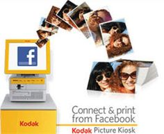 Consumers can print photos from friends' Facebook using Kodak Picture Kiosks