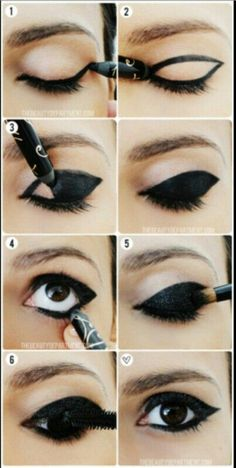 How to put on eyeliner like a pro ? Eyeliner is an essential item in your makeup bag as it not only complements your mascara to give your eyelashes a fuller, thicker, and healthier look, but also give. Maquillage Halloween, Halloween Makeup, Halloween Cat, Cat Costume Makeup, Sexy Cat Costume, Crow Costume, Mime Makeup, Halloween Shoes, Halloween Clothes