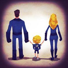 Super-heróis e seus filhos, por Andry Rajoelina