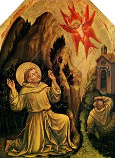 Risultati immagini per dipinti di benozzo gozzoli  sulla vita di san francesco