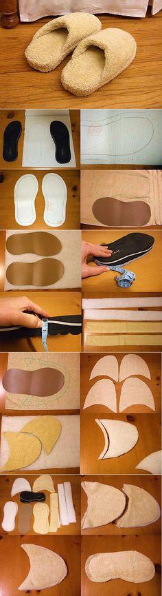 Как сшить мягкие домашние тапочки своими руками – мастер класс в картинках - Золотые руки