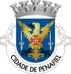 Municipality of Penafiel, Porto, Portugal (Area Km²) Ex Libris, History Of Portugal, Family Crest, Coat Of Arms, Badges, Flags, Portugal Flag, Loom Animals, Stars