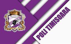 Politehnica Timisoara of Romania wallpaper. Football Anglais, Timisoara Romania, Football Wallpaper, Uefa Champions League, Material Design, Logo Design, Club, Sport, Abstract