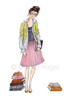 Milie - Fashion Illustration Print - Brooke Hagel