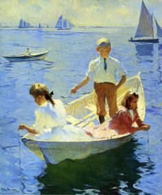 Calm Morning by Frank Weston Benson.