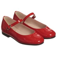 Il Gufo - Girls Red Patent Leather Shoes |
