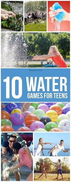 10 Fun Water Games For Teens To Beat The Heat - Kinderspiele Water Balloon Games, Outdoor Water Games, Pool Party Games, Water Games For Kids, Water Balloons, Backyard Games, Fun Games, Outdoor Toys, Backyard Play