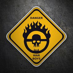 Pegatinas: Danger War Boys #monstruos #TeleAdhesivo