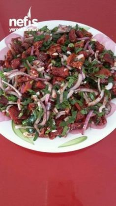 Latest Absolutely Free easy Meat snacks Tips, Dried tomato salad (no such taste) Listed below are 30 healthy snacks. Yummy Recipes, Slaw Recipes, Diet Recipes, Marinated Tomatoes, Dried Tomatoes, Healthy Eating Habits, Healthy Snacks, Turkish Salad, Turkish Mezze