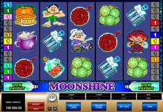 Moonshine on varmasti valtava microgaming kolikkopeli netissä! Kolikkopelissa on hyvää grafiikka, erilaiset bonuspelit, 5 rullat ja 25 voittolinjat - se tekee kaikkille pelajaalle mahdolisuus voitta isot voittot kun aloitat pelata tämän hyvää kolikkopeli verkossa!